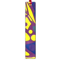 Deep blue and yellow decor Large Book Marks