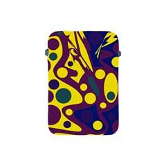 Deep blue and yellow decor Apple iPad Mini Protective Soft Cases