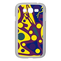 Deep blue and yellow decor Samsung Galaxy Grand DUOS I9082 Case (White)