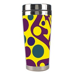 Deep blue and yellow decor Stainless Steel Travel Tumblers