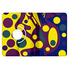 Deep blue and yellow decor Kindle Fire HDX Flip 360 Case