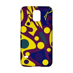 Deep blue and yellow decor Samsung Galaxy S5 Hardshell Case
