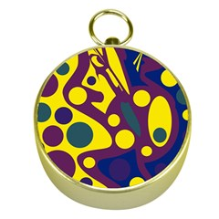 Deep blue and yellow decor Gold Compasses
