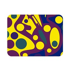 Deep blue and yellow decor Double Sided Flano Blanket (Mini)