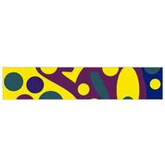 Deep blue and yellow decor Flano Scarf (Small)