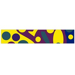 Deep blue and yellow decor Flano Scarf (Large)