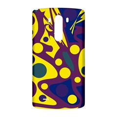 Deep blue and yellow decor LG G3 Back Case
