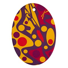 Colorful chaos Ornament (Oval)