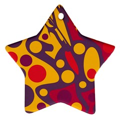Colorful chaos Ornament (Star)