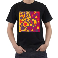Colorful chaos Men s T-Shirt (Black) (Two Sided)