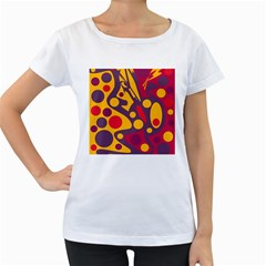Colorful chaos Women s Loose-Fit T-Shirt (White)