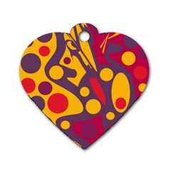 Colorful chaos Dog Tag Heart (One Side)