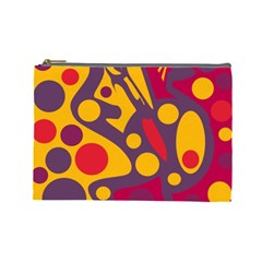 Colorful chaos Cosmetic Bag (Large)