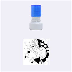 Colorful chaos Rubber Round Stamps (Small)
