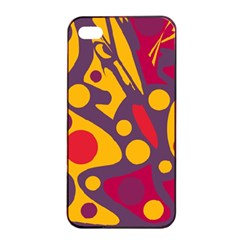 Colorful chaos Apple iPhone 4/4s Seamless Case (Black)