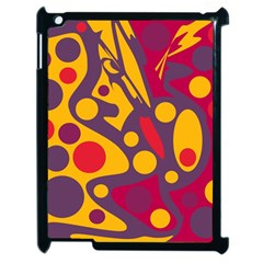Colorful chaos Apple iPad 2 Case (Black)