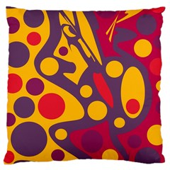 Colorful chaos Large Cushion Case (Two Sides)
