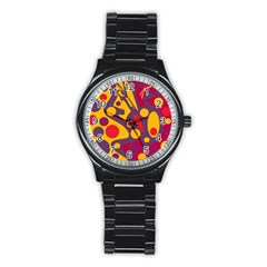 Colorful chaos Stainless Steel Round Watch