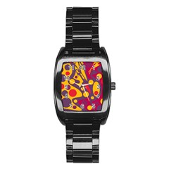 Colorful chaos Stainless Steel Barrel Watch