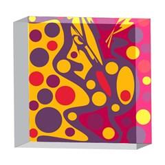 Colorful chaos 5  x 5  Acrylic Photo Blocks
