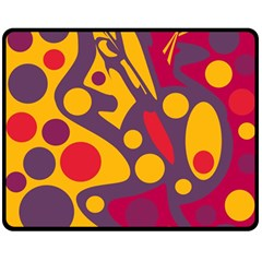 Colorful chaos Double Sided Fleece Blanket (Medium)