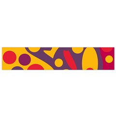Colorful chaos Flano Scarf (Small)