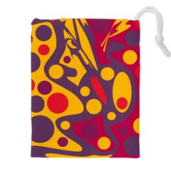 Colorful chaos Drawstring Pouches (XXL)