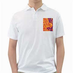 Orange and blue decor Golf Shirts