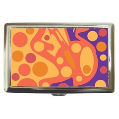 Orange and blue decor Cigarette Money Cases