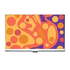 Orange and blue decor Business Card Holders