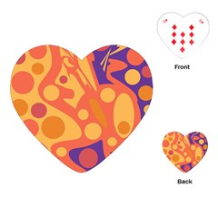 Orange and blue decor Playing Cards (Heart)