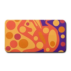 Orange and blue decor Medium Bar Mats