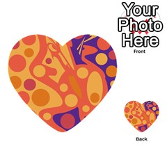 Orange and blue decor Multi-purpose Cards (Heart)