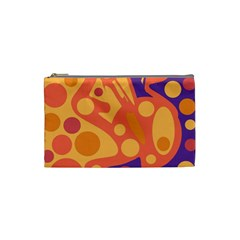 Orange and blue decor Cosmetic Bag (Small)