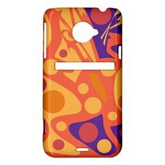 Orange and blue decor HTC Evo 4G LTE Hardshell Case