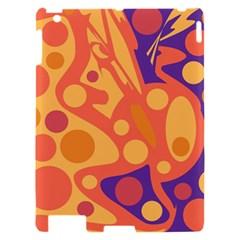 Orange and blue decor Apple iPad 2 Hardshell Case
