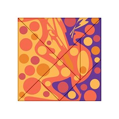 Orange and blue decor Acrylic Tangram Puzzle (4  x 4 )