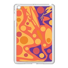 Orange and blue decor Apple iPad Mini Case (White)