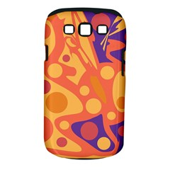 Orange and blue decor Samsung Galaxy S III Classic Hardshell Case (PC+Silicone)