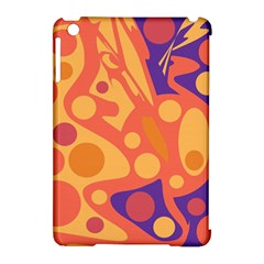 Orange and blue decor Apple iPad Mini Hardshell Case (Compatible with Smart Cover)