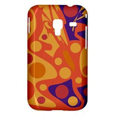 Orange and blue decor Samsung Galaxy Ace Plus S7500 Hardshell Case