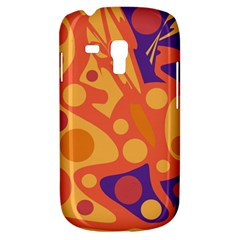 Orange and blue decor Samsung Galaxy S3 MINI I8190 Hardshell Case