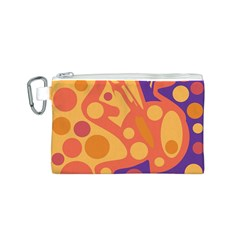 Orange and blue decor Canvas Cosmetic Bag (S)
