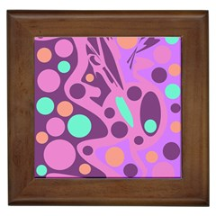 Purple and green decor Framed Tiles