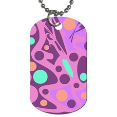 Purple and green decor Dog Tag (One Side)