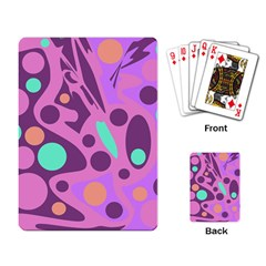 Purple and green decor Playing Card