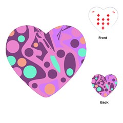 Purple and green decor Playing Cards (Heart)