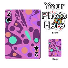 Purple and green decor Playing Cards 54 Designs