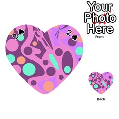 Purple and green decor Playing Cards 54 (Heart)