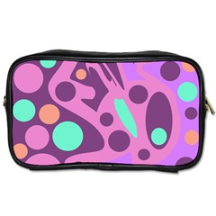 Purple and green decor Toiletries Bags 2-Side